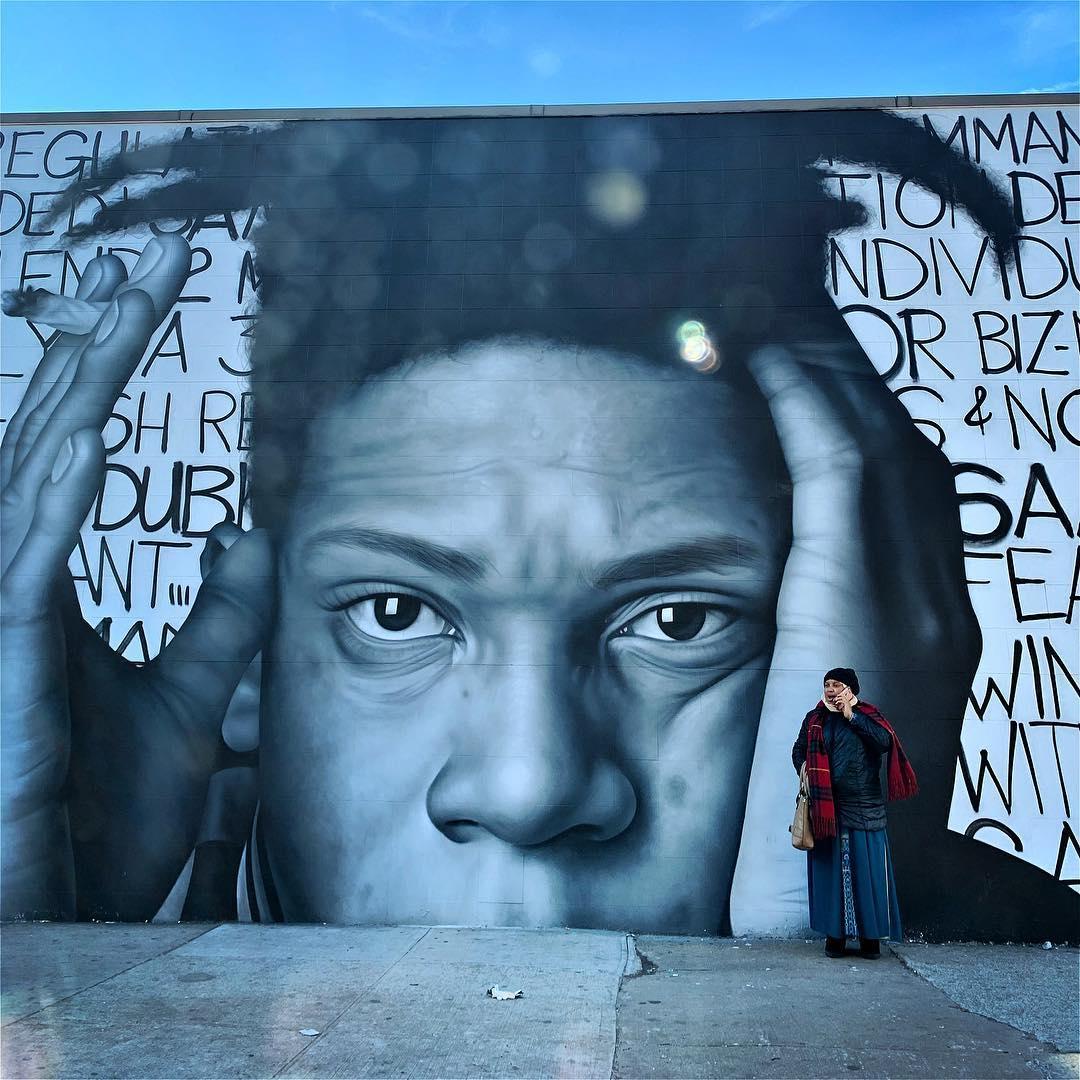 King & Queen. . . . . . . #latergram #brooklyn #bk #nyc #basquiat  #wallart #strangers