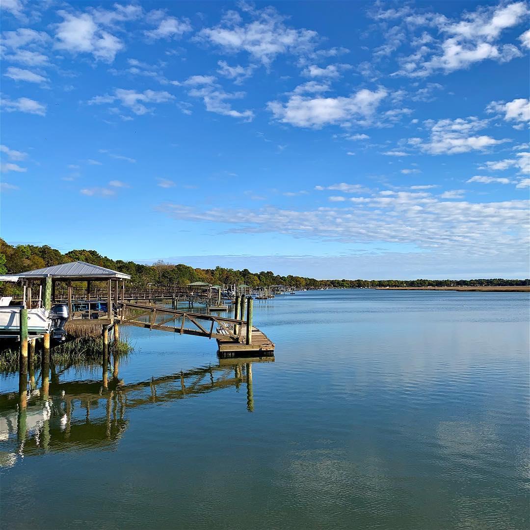 Beaufort River. Blue skies. Beautiful. . . . . . #latergram #sc #beaufort #bft #home