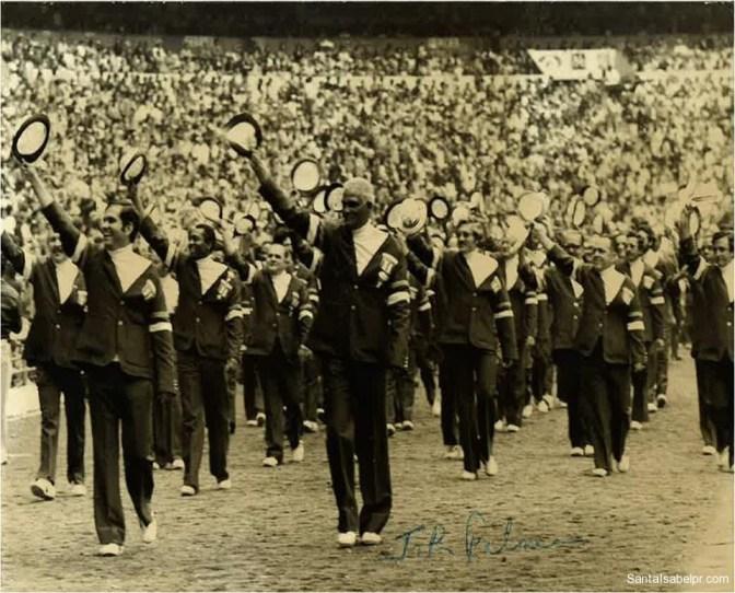 El santaisabelino Juan Rafael Palmer en las Olimpiadas de Munich, cuando era Director Ejecutivo del Comité Olimpico de PR.
