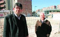Angel Moratilla (izq) i President Afectats explosio Carmel (dreta)