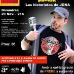 Operario del Humor rompiendo barreras: Las historietas de Jona en el Teatre Sagarra