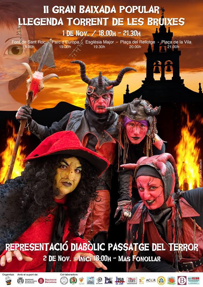 II gran baixada popular llegenda torrent de les bruixes i representació diabòlic passatge del terror