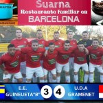 """IMPRESIONANTE REMONTADA DE LA GRAMENET ANTE LA GUINEUETA """"B"""" (3-4)"""