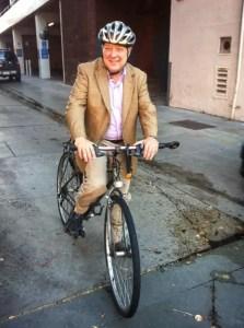 Frank Gruber on a Bike