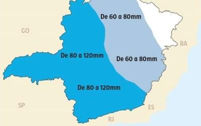 Lista das 90 cidades em alerta de chuva intensa em Minas