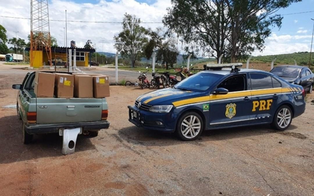 Caminhonete envolvida em saque de carga é apreendida em Itaguara