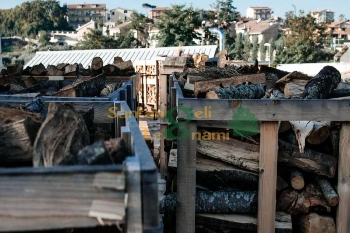 bancale legna di faggio