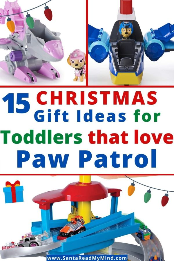 15 Christmas Gift Ideas for Toddlers that Love Paw Patrol (makes christmas shopping easier)