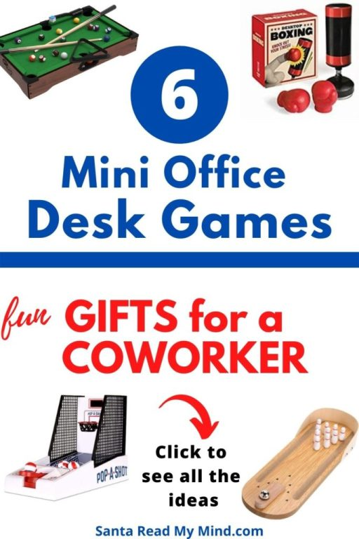6 Mini Office Desk Games that make great gifts for coworkers and gifts for office workers