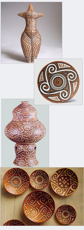 Manufatti della cultura balcanica di Cucuteni, V-IV millennio a.C.Dopo l'arrivo dei conquistatori Indoeuropei, passerranno diversi millenni prima che in Europa si sia nuovamente in grado di creare opere artistiche di tale raffinatezza.
