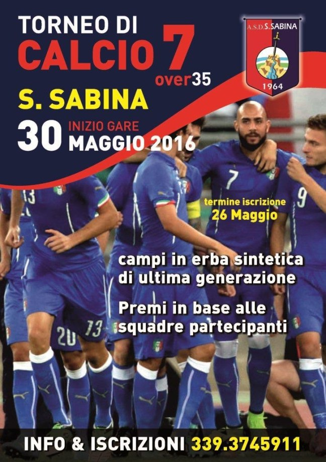 Locandina Torneo Calcio7