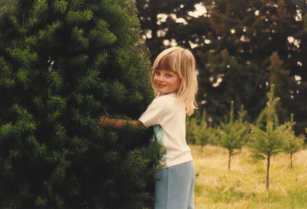 Vintage Christmas Tree Hug
