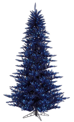 Navy Blue Artificial Christmas Trees