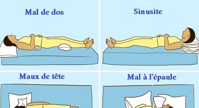 la facon dont on dort influe sur la sante voici une compilation de neuf positions a adopter pour soulager certains maux ou afflictions courantes