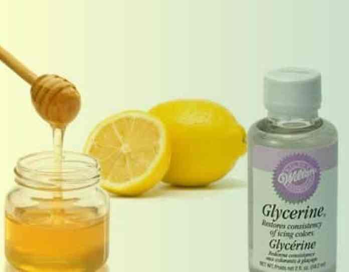 Glycérine et jus de citron