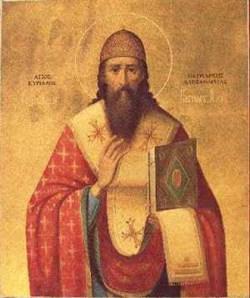sveti Ciril Aleksandrijski - škof in cerkveni učitelj