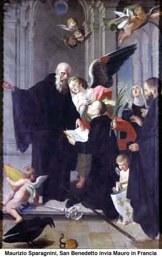 St. Benedict Sends St. Maurus to France