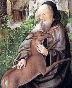 sveti Egidij (Tilen) - puščavnik in opat