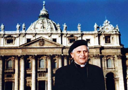 The Holy Father in front of St. Peters
