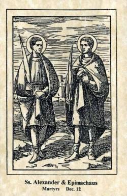 sveti Epimah, Aleksander in drugi aleksandrijski mučenci