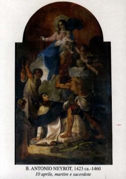 blaženi Anton Neyrot - redovnik, duhovnik in mučenec