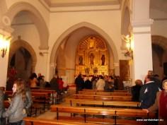 En el templo acompañando a San Esteban