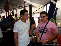 Andrés, nuestro concejal más jóven, con Santi