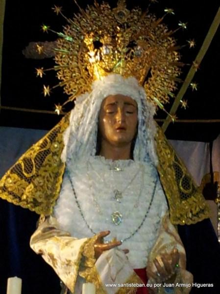 Virgen de la Amargura, no pudo procesionar en la madrugá del Viernes Santo