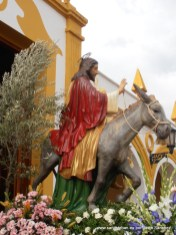 Jesús en la Borriquilla.