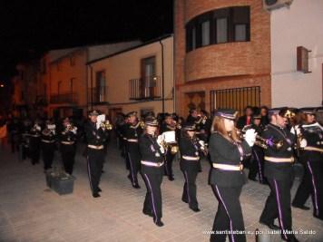 Banda de los Nazarenos en la Calle Sagasta
