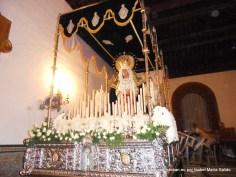 Virgen de la Amargura esperando para su estación de penitencia en la madrugá del Jueves al Viernes Santo
