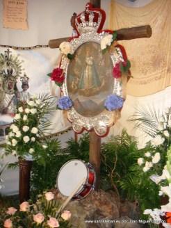 Cruz de la Mayordomía 2011-2012. Cuadro de Nuestra Patrona y Cruz.