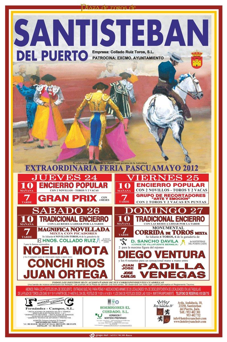 Cartel de Toros Santisteban Pascuamayo 2012