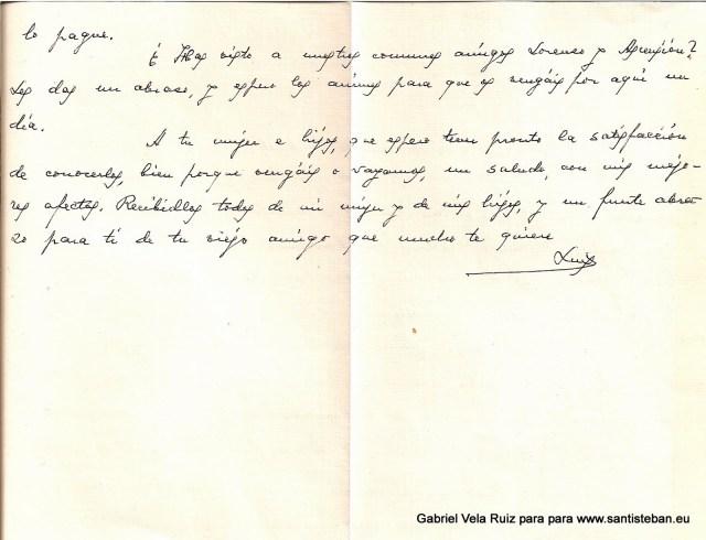 Carta de D. Luis González Miñarro a Gabriel Vela Ruiz.
