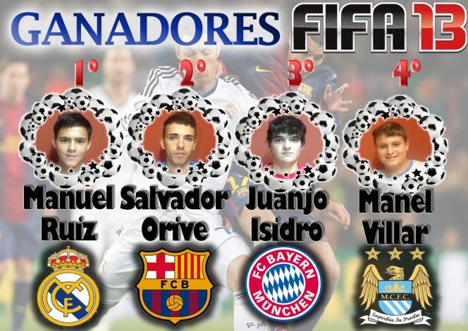 Ganadores Torneo de Videojuegos 2013, Fifa