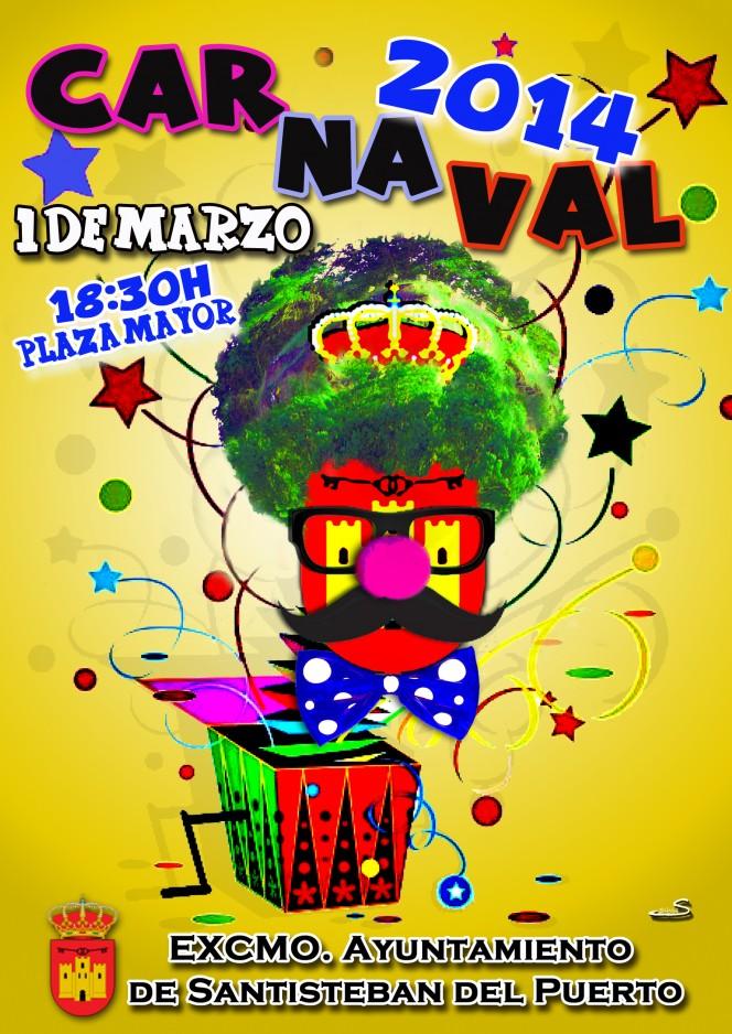 Cartel Carnavales Santisteban 2014