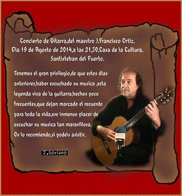 Concierto Guitarra J Francisco Ortíz 2014