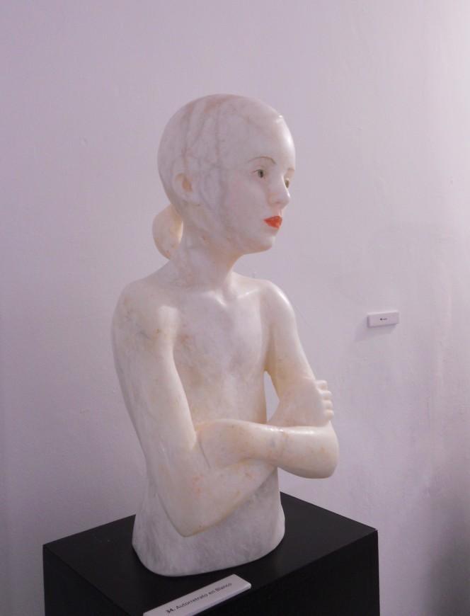 Segundo Premio: Autorretrato en blanco - Daniel Elena Bueno