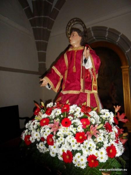 San Esteban antes de ser procesionado