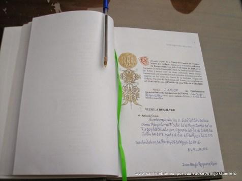 Libro de honor de la Mayordomía