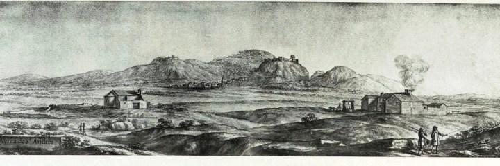 Venta de San Andrés de Santisteban del Puerto. Acuarela de Pier María Baldi.