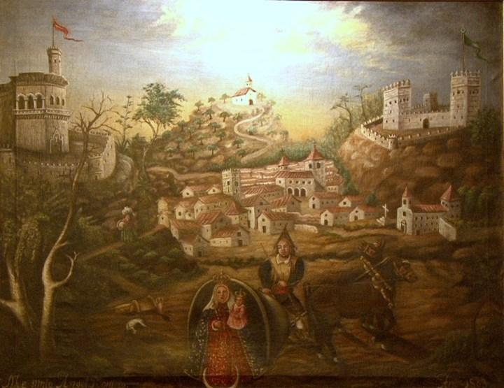 Pintura Aparición Virgen del Collado Artículo F. Armijo