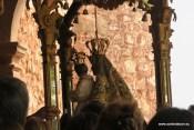 Virgen del Collado antes de su reentrada en el templo