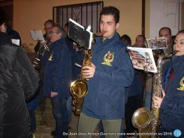 Banda de música en la lumbre de San Sebastián