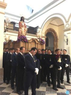 Cristo de Medinaceli antes de procesionar - Martes Santo 2018