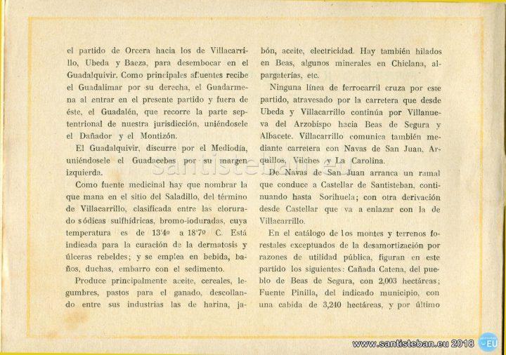 Comentarios acerca del partido judicial de Villacarrillo