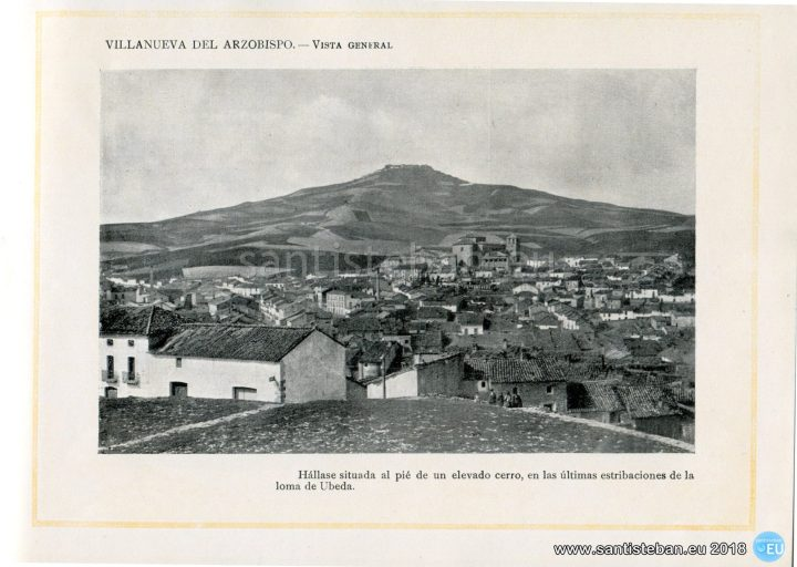 VILLANUEVA DEL ARZOBISPO.- Vista General.