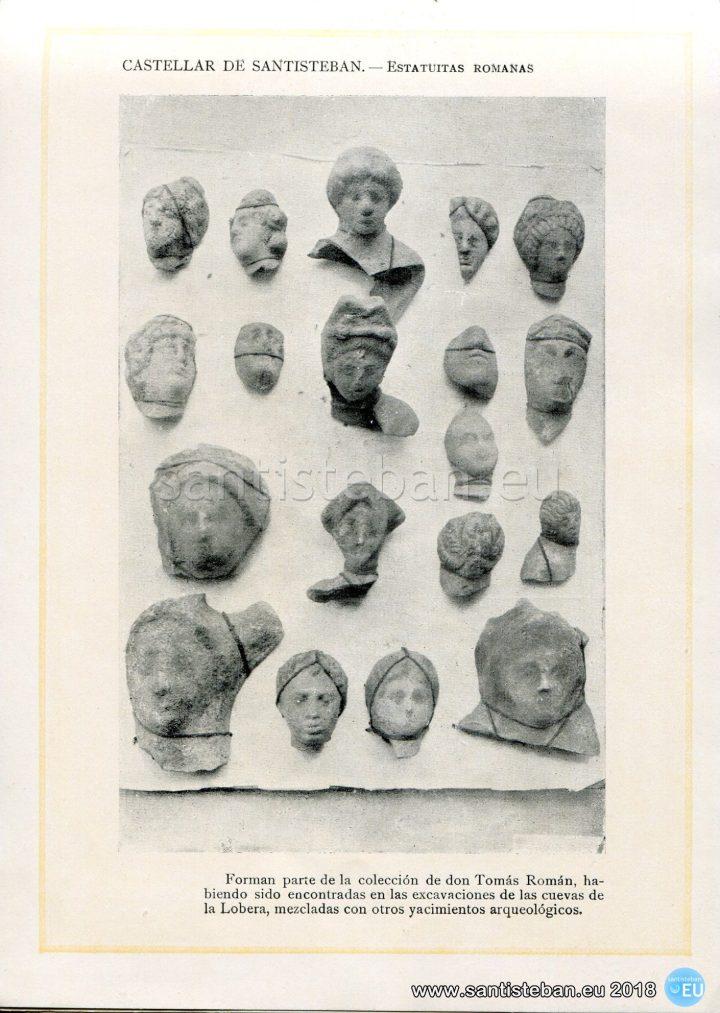 CASTELLAR DE SANTISTEBAN.- Estatuas Romanas.