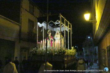 Estación de penitencia de Jesús de la Caída, Virgen de los Dolores y San Juan Evangelista. Jueves Santo 2019