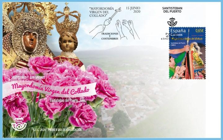 """Sobre Primer Día - Tradiciones y costumbres. """"Mayordomía Virgen del Collado"""". Santisteban del Puerto. Jaén. 15 de junio de 2020"""